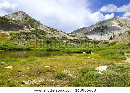 Medicine Bow Mountains in Wyoming during summer