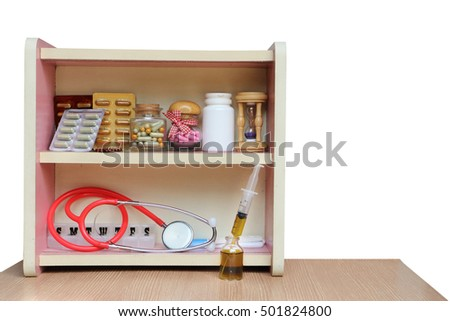 medicine cabinet ,isolated white background and saved clipping path