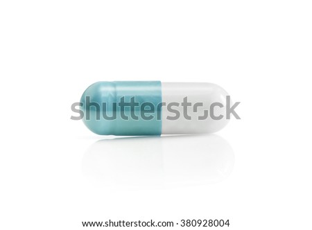 medicine capsule isolated on white background with clipping path