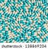 medicine,capsule,tablet on white background - stock