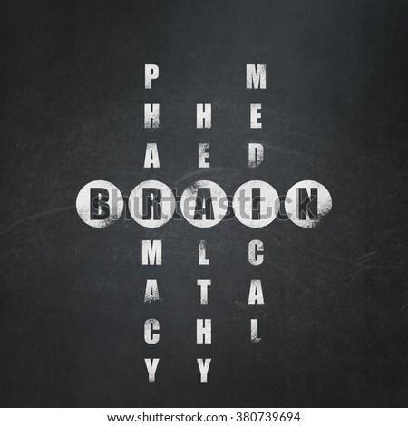 Medicine concept: Brain in Crossword Puzzle - stock photo