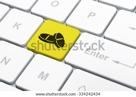 Medicine concept: computer keyboard with Pills icon on enter button background, selected focus, 3d render - stock photo