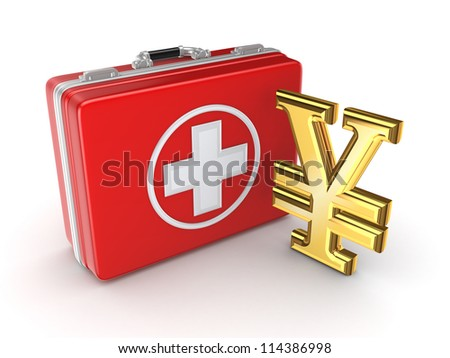 Medicine concept.Isolated on white background.3d rendered. - stock photo