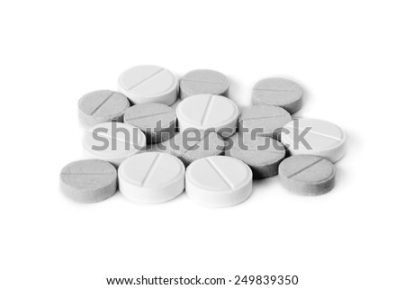 medicine concept. pills isolated on white background - stock photo