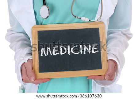 Medicine diagnosis disease ill illness healthy health doctor with sign - stock photo