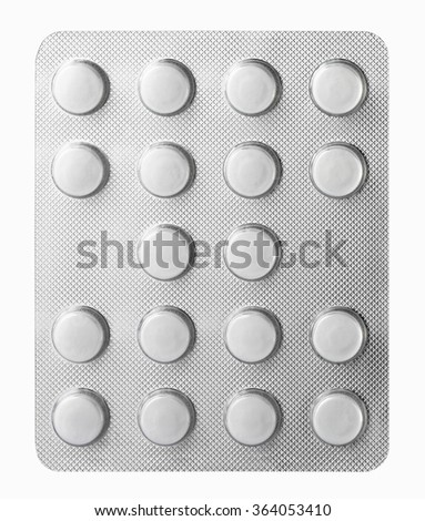 Medicine in tablet package - stock photo