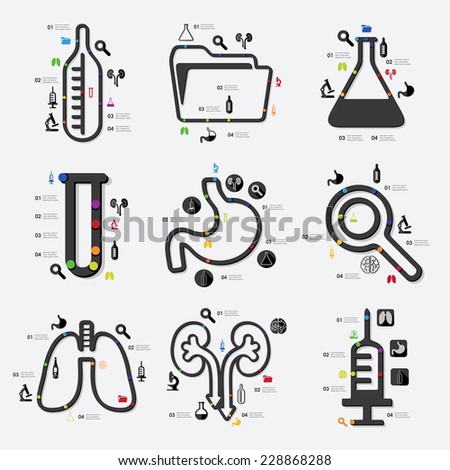 medicine infographic - stock photo