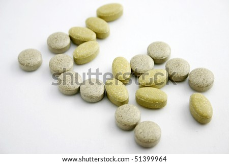 Medicine pills with different shape.