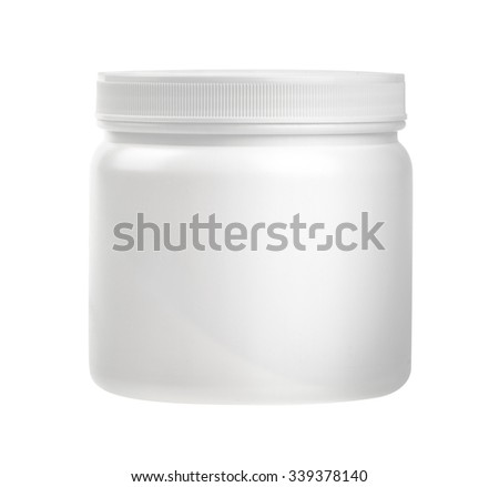 medicine white pill bottle isolated on a white background with clipping path.