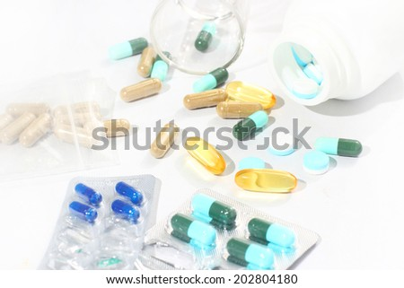 medicines and drugs - stock photo