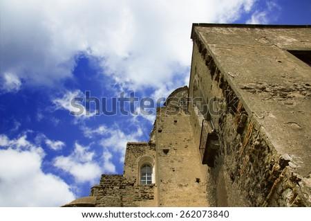 Medieval Aragonese Castle's main building, Celsa (Ischia Ponte) - stock photo