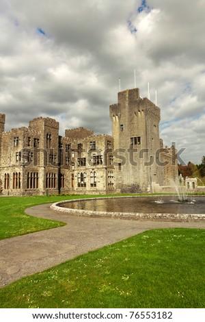 Medieval Ashford castle - stock photo