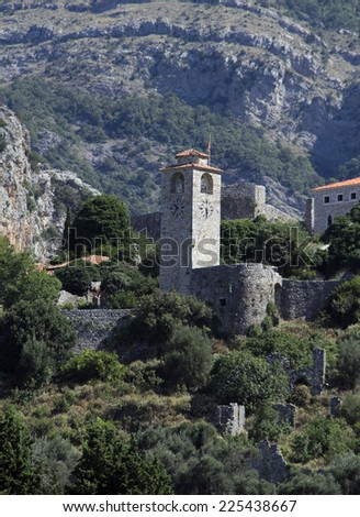 Medieval Bar city in the Montenegro state