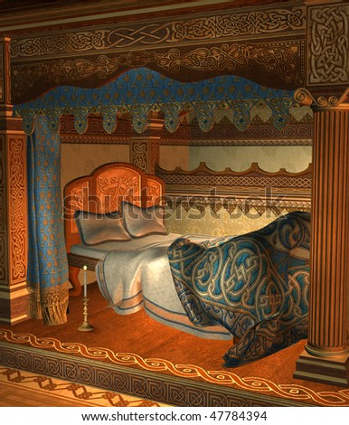 Unholy vault designs 39 s interiors set on shutterstock for Medieval bedroom design