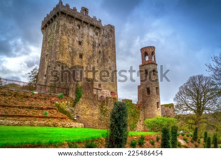 Medieval Blarney Castle in Co. Cork, Ireland - stock photo
