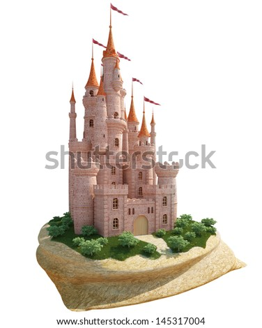 Medieval castle - stock photo