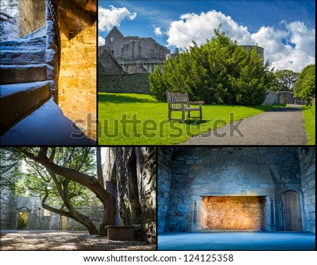 Medieval castle in summer Scotland - stock photo