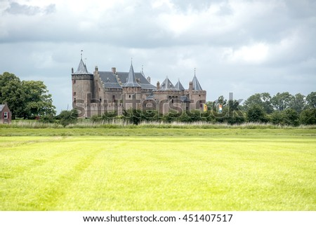 Medieval Castle Muiderslot near Muiden, the Netherlands 11 July 2016