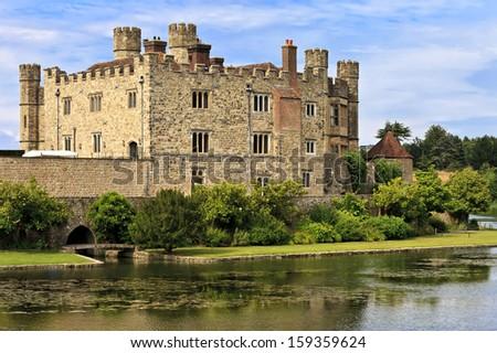 Medieval castle of Leeds, in Kent, England, United Kingdom (UK) - stock photo