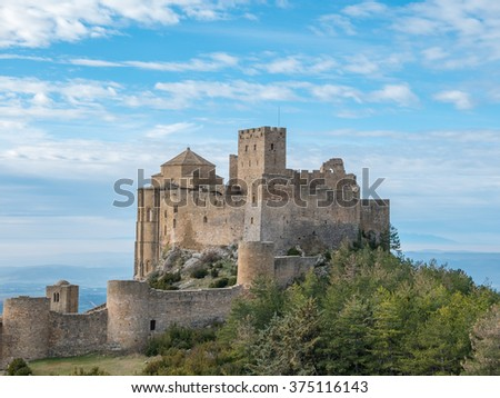 Medieval castle of Loarre in Aragon, Spain