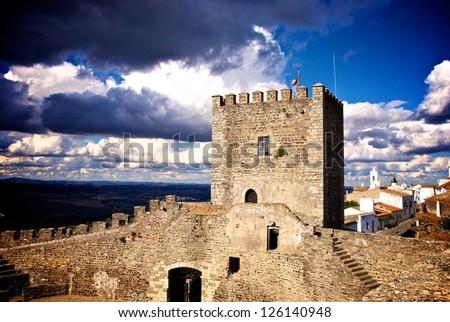 Medieval Castle of Monsaraz - stock photo