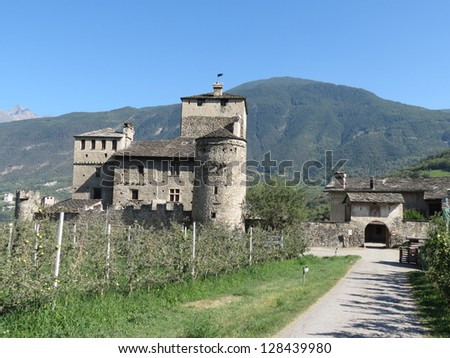 medieval castle of Sarriod de la Tour, near Aosta