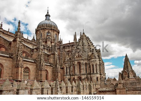 Medieval Cathedral in Salamanca, Spain - stock photo