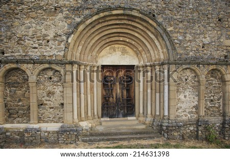 Medieval church entrance