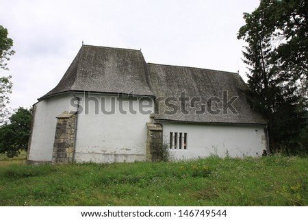 Medieval church in Transylvania, Romania