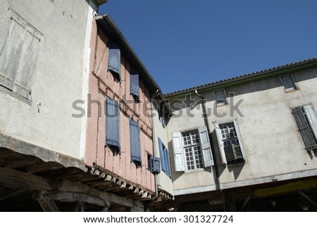 Medieval city of Mirepoix in Pyrenees, France