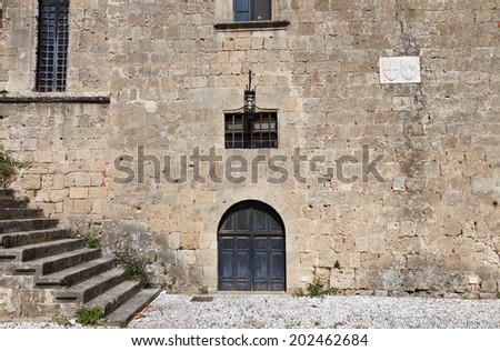 Medieval city of Rhodes island in Greece - stock photo