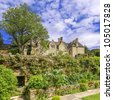 medieval elizabethan country house, cotswolds the uk - stock photo
