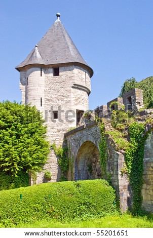 Medieval Father Vink defense tower. Built in 1380, Maastricht, The Netherlands - stock photo