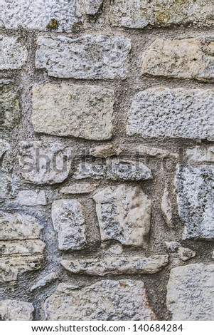 Medieval Fortress Stone Rampart Detail - stock photo