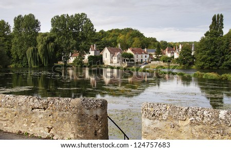 Medieval French Riverside Village in Limousin