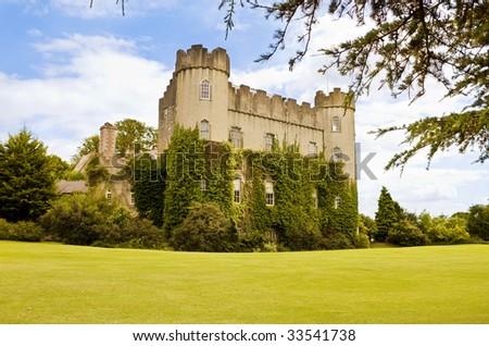 Medieval Irish Castle at Malahide, in Dublin. - stock photo