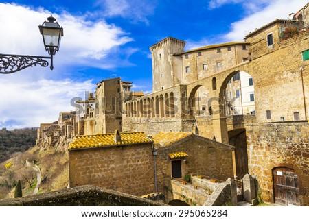 medieval Italy - Pitigliano - stock photo