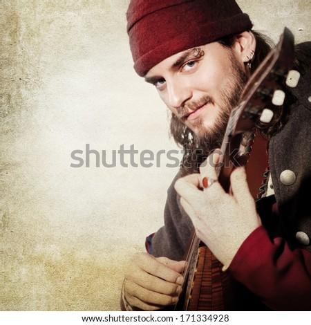medieval juggler  - stock photo