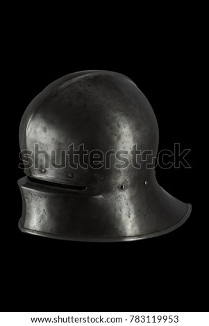medieval knight European infantry helmet Salad