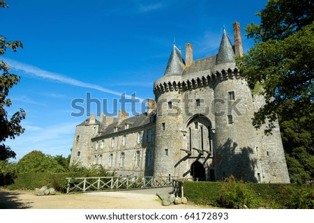 Medieval Montmarin castle in Brittany, France