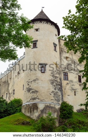 Medieval Niedzica Castle in Poland