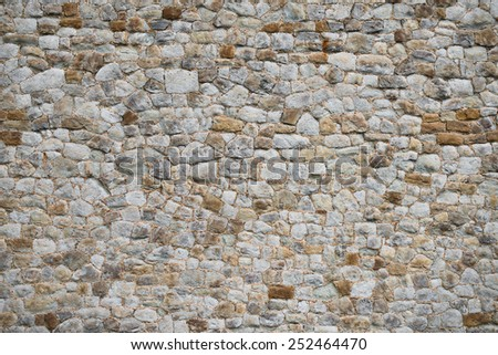 Medieval old wall texture and background unique exterior - stock photo