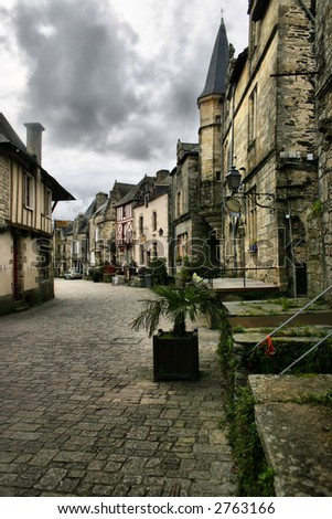 medieval street in brittany