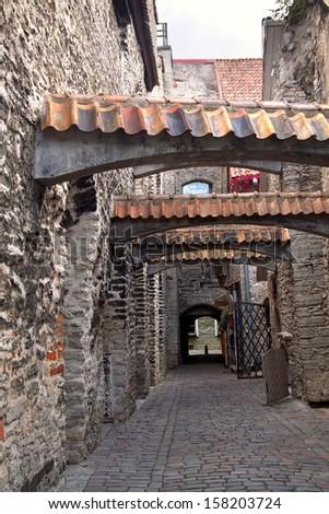 medieval Tallinn - stock photo