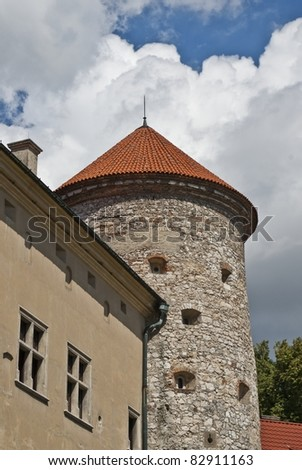 Medieval tower and old castle, Pieskowa Skala