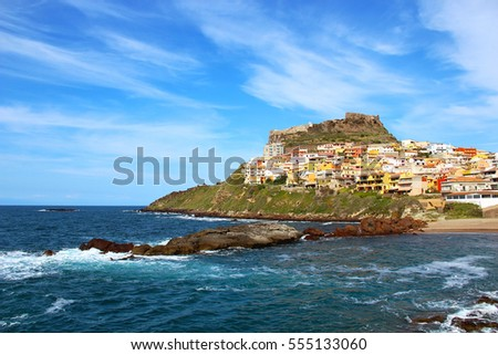 Medieval town of Castelsardo on Sardinia, Italy