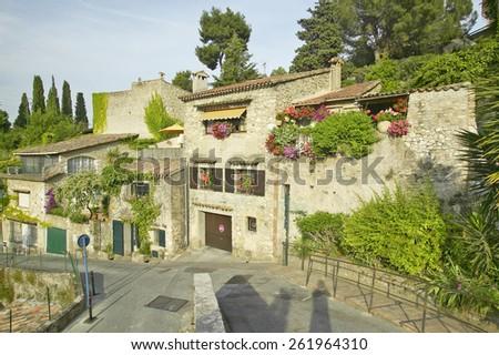 Medieval village of Haut de Cagnes, France - stock photo