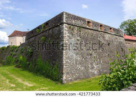 Medieval walls of the fortress defending Venetian old town
