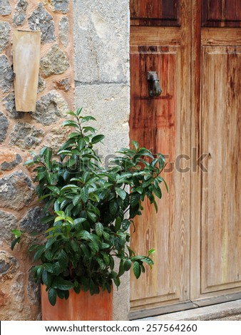 Mediterranean entrance - stock photo