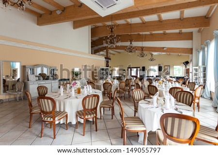 Mediterranean interior - a luxurious restaurant with stylish details